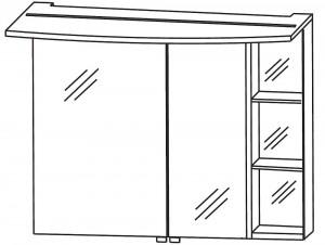 2D Spiegelschrank 90 cm S2A439R76