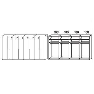 S238 - Äußere Schranktüren in Korpusfarben - Breite: 399 cm
