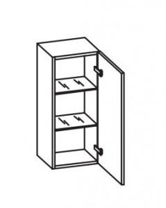 378.013030 Wandschrank / 1 Drehtüre / 2 Glaseinlegeböden / inklusive Türdämpfer / Breite 30 cm / Höhe 70 cm / Tiefe 29,9 cm