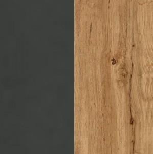 Front grau-metallic / Korpus Dekor-Druck Eiche Wotan