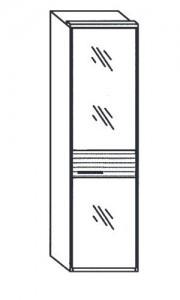 155 - 1 bronzierte Spiegeltür rechts angeschlagen