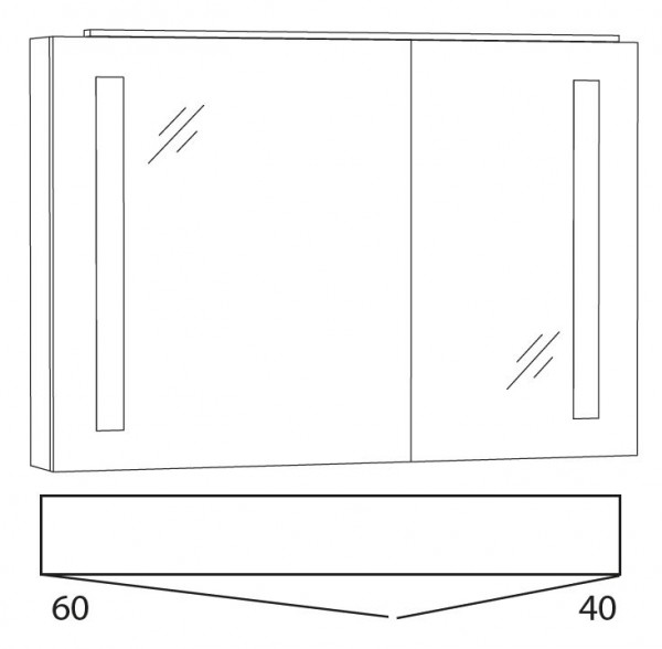 Marlin Azure Spiegelschrank 100 cm SFLS10 L/R
