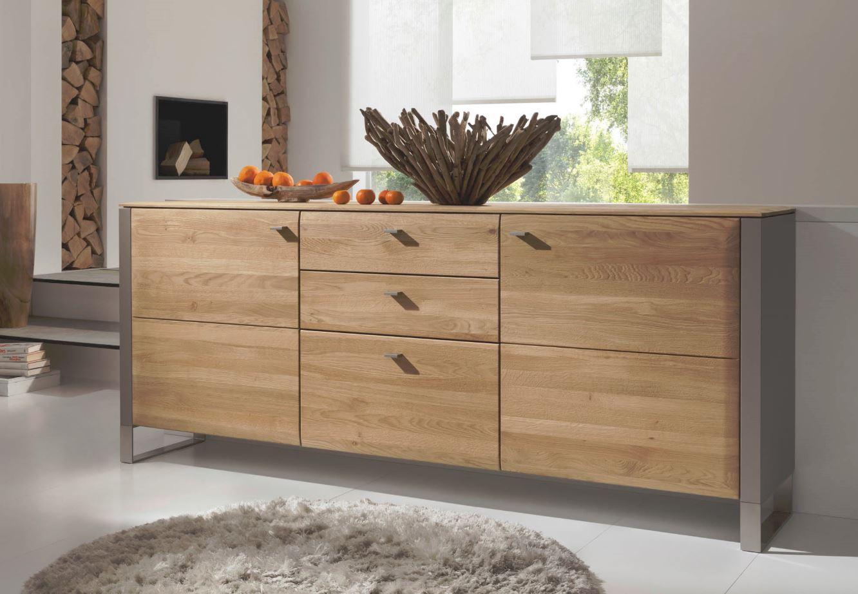 gwinner solid sideboard 4 raster mit fu gestell sb7 g nstig kaufen m bel universum. Black Bedroom Furniture Sets. Home Design Ideas