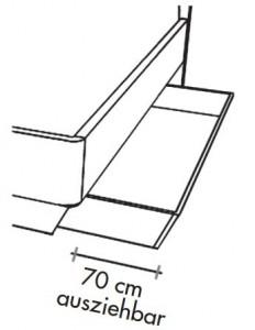 1 x 565885 Bettschubkasten links und rechts in der gewählten Bettbreite, dunkelbraun