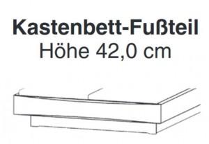 Kastenbett-Fußteil