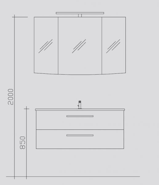 Pelipal Solitaire 9020 Kombination 2.2 - 115 cm breit