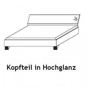 Futonbett - Kopfteil in Hochglanz