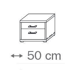 640M - 2 Schubkästen-Holzdekor- Breite 50 cm