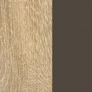 Front + Korpus Dekor-Druck Eiche Sonoma / Absetzungen Lavagrau