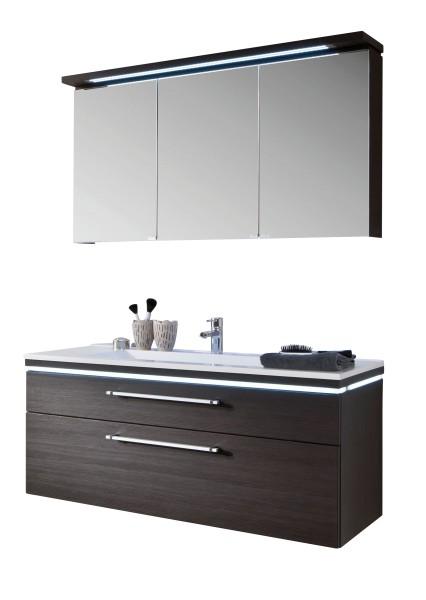 Puris Cool Line 120 cm - Kombination 3 - Spiegelschrank inkl. Gesimsboden und Beleuchtung