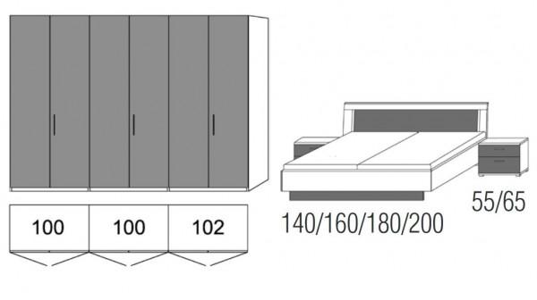 loddenkemper luna kombination s9226 g nstig kaufen m bel. Black Bedroom Furniture Sets. Home Design Ideas