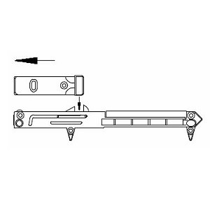 Bettschubkastendämpfer, Set für 2 Schubkästen