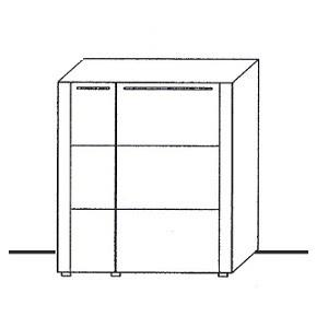 U6-301ML - schmale Tür links, breite Tür rechts