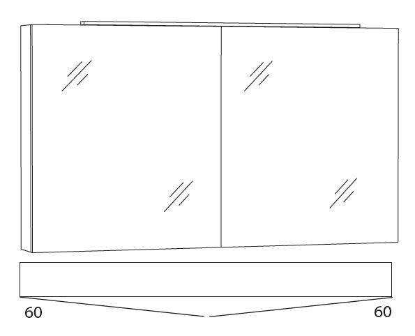 Marlin Azure Spiegelschrank 120 cm SFLA12