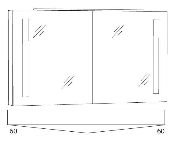 Marlin Azure Spiegelschrank 120 cm SFLS12