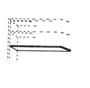 2er-Set Einlegeböden für 2-türiges Schrankelement