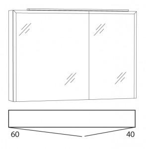 Spiegelschrank 100 cm SWIA10L