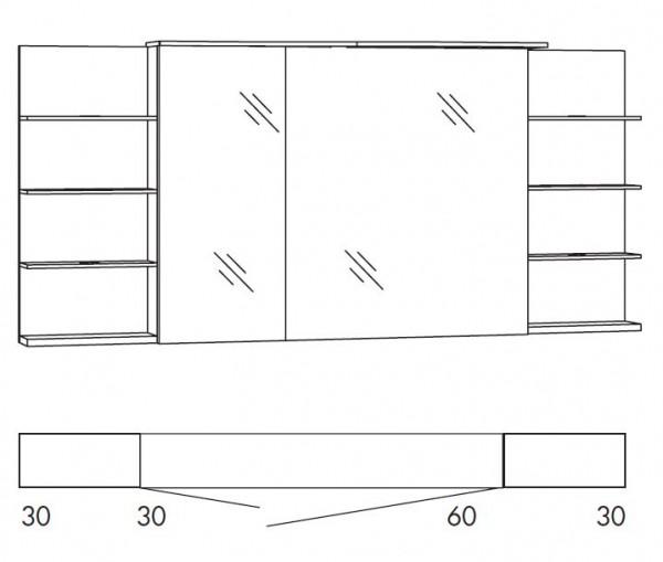 Marlin Bad 3160 - Motion Spiegelschrank 150 cm SAOSR63R / SAOSR63RLS / SAOZR63R / SAOZR63RLS