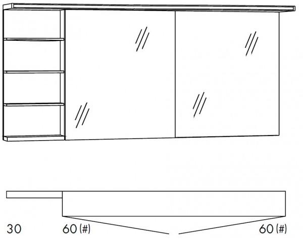 Marlin Bad 3160 - Motion Spiegelschrank 150 cm SOBSR66 / SOBSR66LS