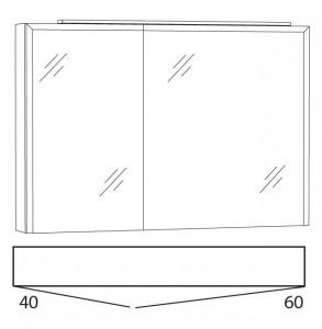 Spiegelschrank 100 cm SWIA10R