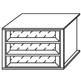 9S4D - Schubkasteneinsatz / 3 Schubkästen / Glasfront