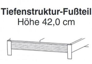 Tiefenstruktur-Fußteil