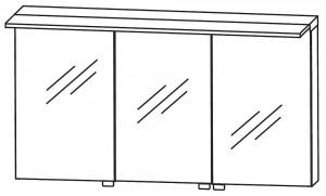 Spiegelschrank 140 cm S2A431478 - für Einzelwaschtisch-Lösung