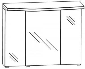 Spiegelschrank 90 cm SET43903R