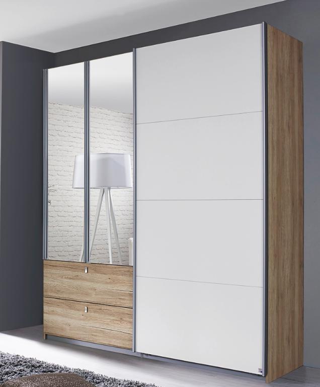 rauch packs kombino kombi schwebet renschrank mit spiegelt ren g nstig kaufen m bel universum. Black Bedroom Furniture Sets. Home Design Ideas