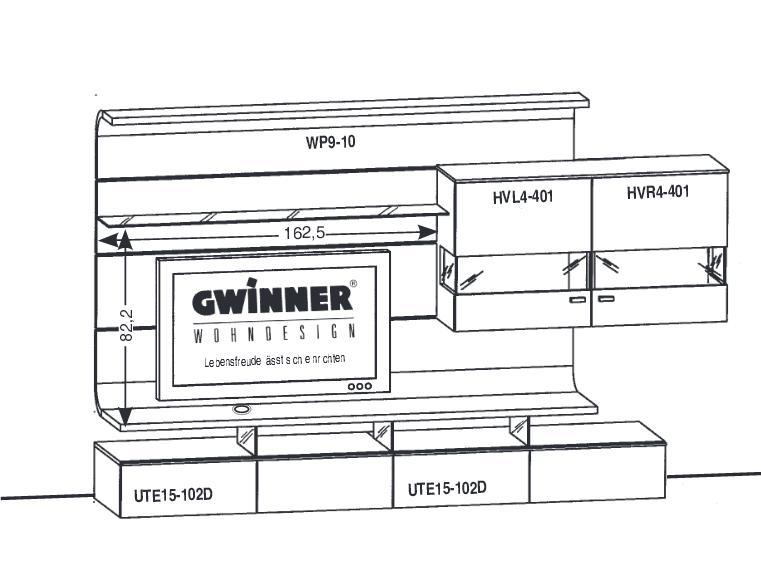 Gwinner Felino Wohnwand FE18  Erhältlich in 3 modernen
