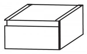Plattenunterschrank mit einem Metallschubkasten - 30 cm