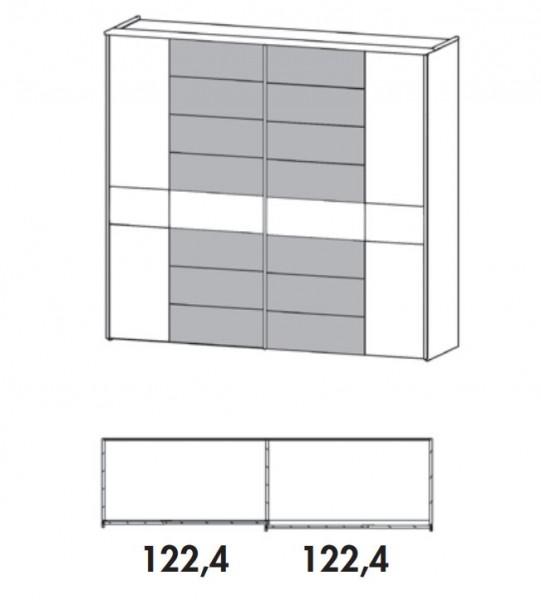 thielemeyer mira schwebet renschrank 832 875 250 cm. Black Bedroom Furniture Sets. Home Design Ideas