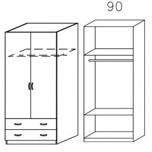 3729 Kombischrank - Breite 91 cm