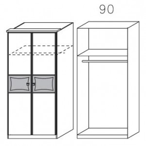 0976 Drehtürenschrank, 2-türig