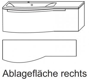 Waschplatz SETP112R - Ablagefläche rechts