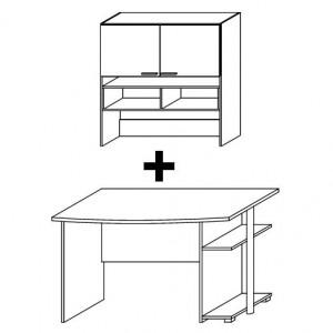 mit 950F Schreibtisch + 7827 Aufsatz