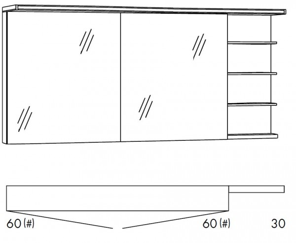 Marlin Bad 3160 - Motion Spiegelschrank 150 cm SOBS363R / SOBS363RLS