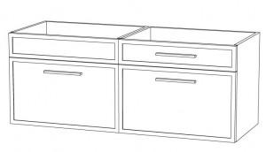 Waschtischunterschrank DWMDASA12 (120 cm)