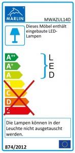 mit LED-Lichtleiste (140 cm)