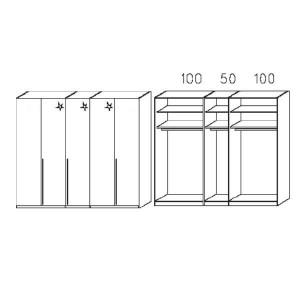 S235 - Äußere Schranktüren in Korpusfarben - Breite: 250 cm