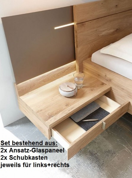 Thielemeyer Cubo Ansatz Glaspaneel Mit Unterbau Schubkasten 2er Set