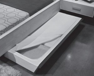 565884 Bettschubkasten-Abdeckungs-Set Stoff beige mit Reißverschluss, Verschließt den Bettschubkasten nach oben. Waschbar bei 30°C.