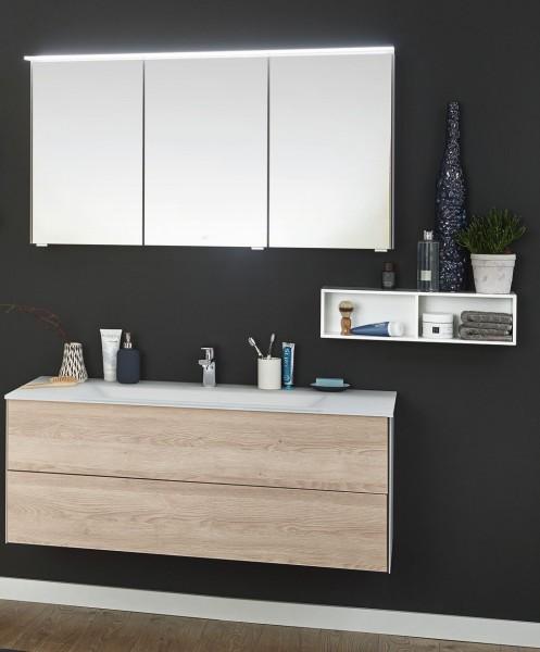 Puris Ice Line Kombination 120 cm - Einzelwaschtisch mit Spiegelschrank