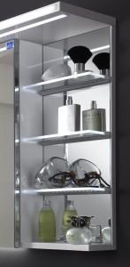 Regal mit Spiegel und Glasablageböden (LED)