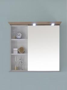 9030-SPS 02-R Spiegelschrank mit offenem Regal links