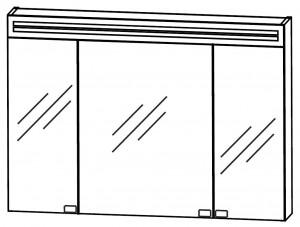 2D-Spiegelschrank 90 cm S2A58906