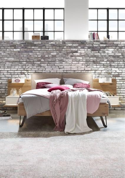 Thielemeyer Feel Liegenbett mit Polsteraufsatz und Designfüßen Metall