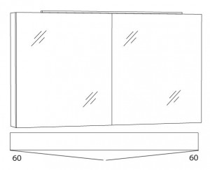 Spiegelschrank 120 cm SFLA12