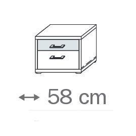 641L - 2 Schubkästen und Glasauflage - Breite 58 cm