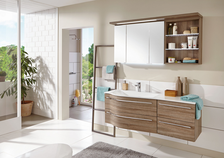 badm bel set stra burg 140 cm breit in eiche g nstig kaufen m bel universum. Black Bedroom Furniture Sets. Home Design Ideas